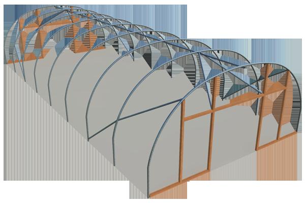 Single span Euro 7m model polyhouse