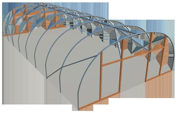 Single span Euro 8m model polyhouse
