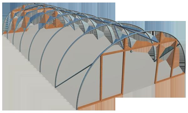 Single span standard 24ft model polyhouse