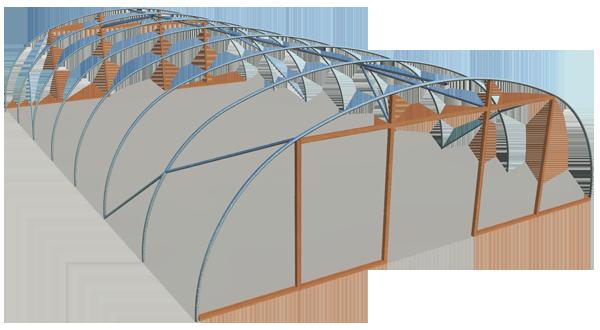 Single span standard 28ft model polyhouse