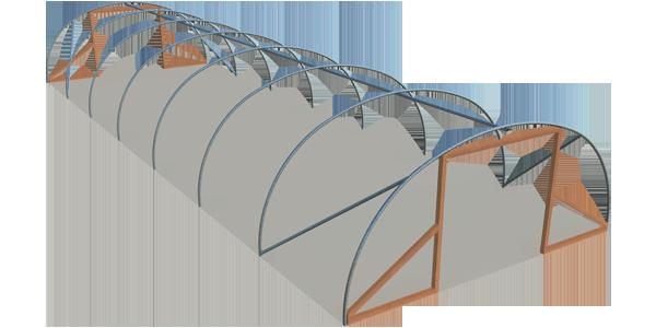 Single span standard polyhouse